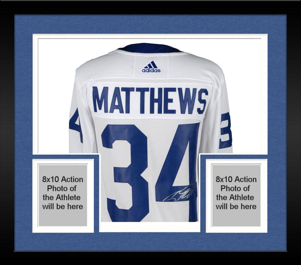 buy popular ce3e4 dc3e5 Framed Auston Matthews Toronto Maple Leafs Autographed White Adidas  Authentic Jersey