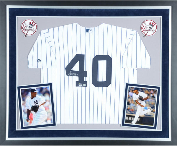 779a8943c Luis Severino New York Yankees Deluxe Framed Autographed Majestic ...