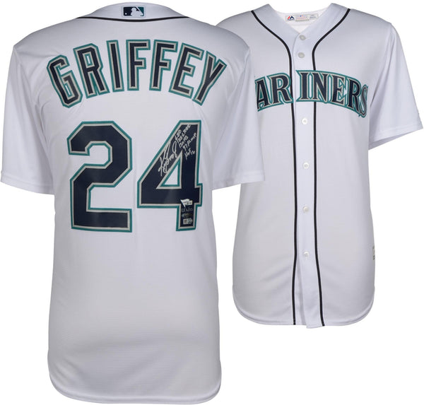 finest selection f5aa8 96181 Ken Griffey Jr. Seattle Mariners Autographed White Majestic Jersey with  Multiple Inscriptions - Limited Edition of 10 – TRISTAR