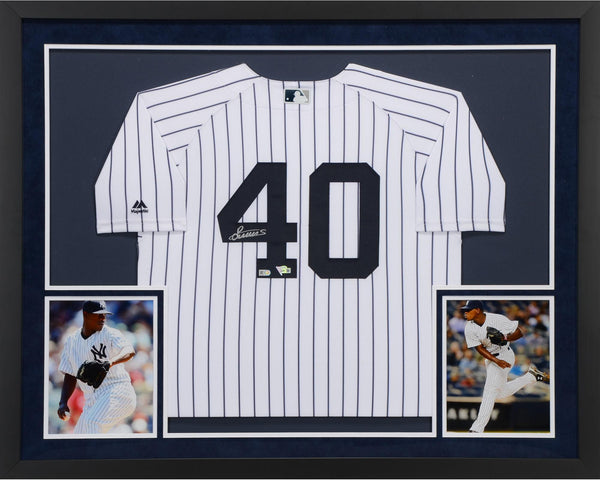 8b1fd1548 Luis Severino New York Yankees Deluxe Framed Autographed Majestic Whit –  Steiner Sports