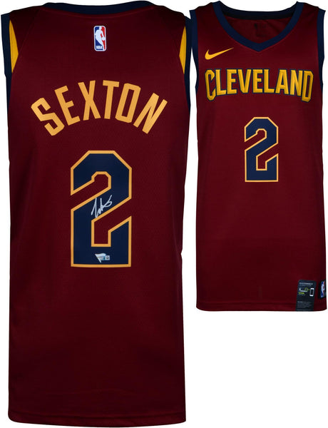 pretty nice e1d26 d8266 Collin Sexton Cleveland Cavaliers Autographed Nike Red Swingman Jersey