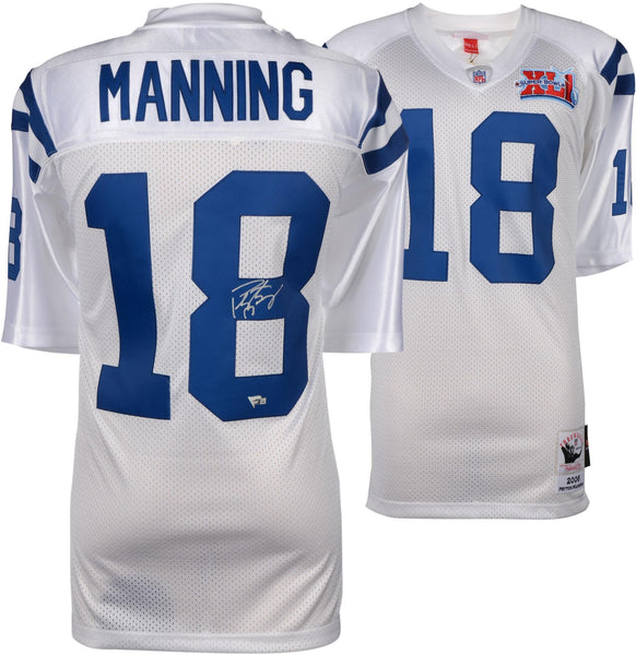 fe7e1da01 Peyton Manning Indianapolis Colts Autographed Mitchell & Ness 2006 Sup –  Steiner Sports