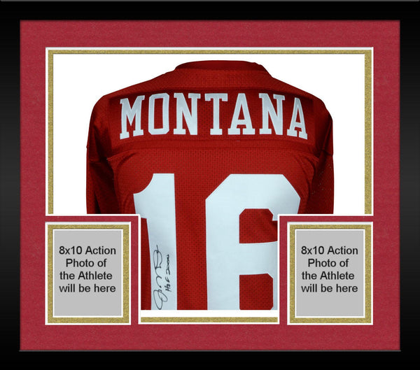sports shoes 2018c 46c93 Framed Joe Montana San Francisco 49ers Autographed Mitchell & Ness Red  Authentic Jersey with