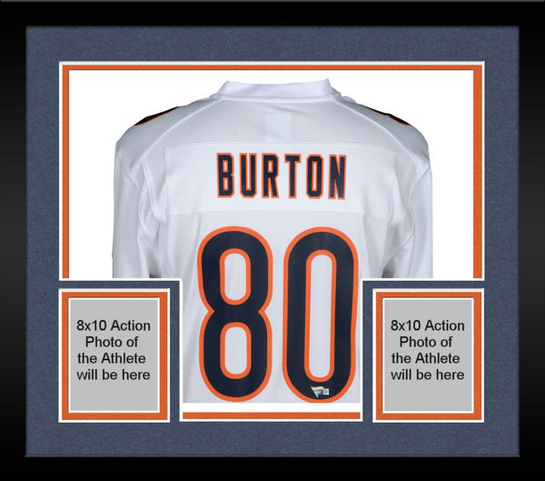 promo code f5f97 94faa Framed Trey Burton Chicago Bears Autographed Nike White Game Jersey
