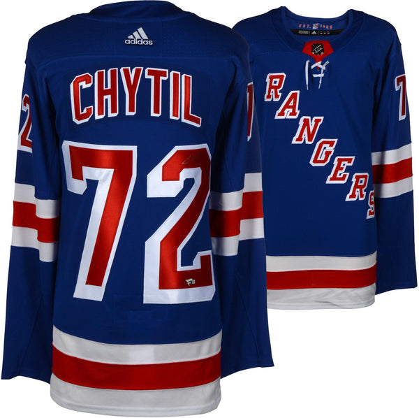 check out ee571 9f24b Filip Chytil New York Rangers Autographed Blue Adidas Authentic Jersey