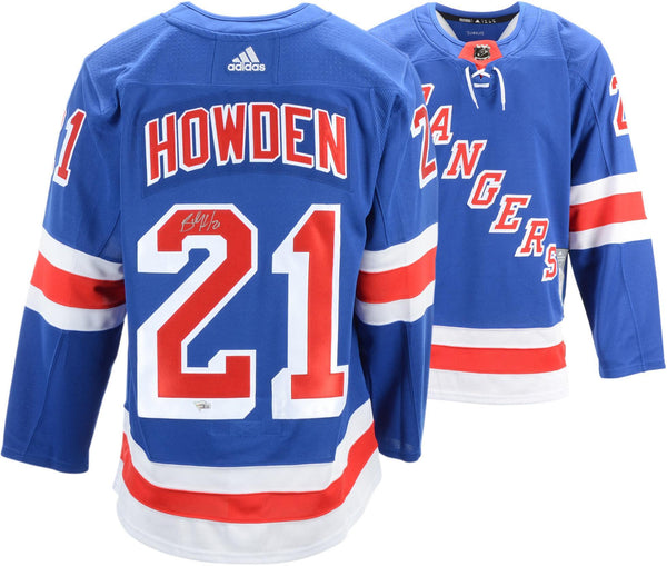 best service 4cf37 61c7e Brett Howden New York Rangers Autographed Blue Adidas Authentic Jersey
