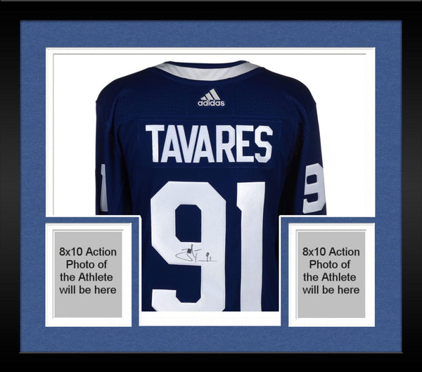 new arrival 425fe 503e2 Framed John Tavares Toronto Maple Leafs Autographed Blue Adidas Authentic  Jersey
