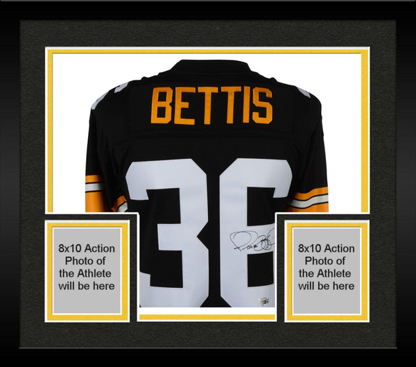 huge selection of 557d4 bdf1d Framed Jerome Bettis Pittsburgh Steelers Autographed Black Authentic  Mitchell & Ness Jersey with