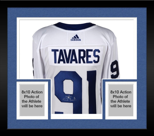 sale retailer 3034a 9a012 Framed John Tavares Toronto Maple Leafs Autographed White Adidas Authentic  Jersey