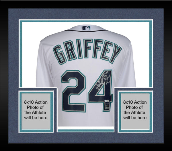 premium selection 62d60 0df8d Framed Ken Griffey Jr. Seattle Mariners Autographed White Majestic Jersey  with Multiple Inscriptions - Limited Edition of 10 – TRISTAR