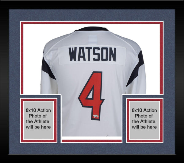 new product 369a7 bdf3c Framed Deshaun Watson Houston Texans Autographed Nike White Game Jersey
