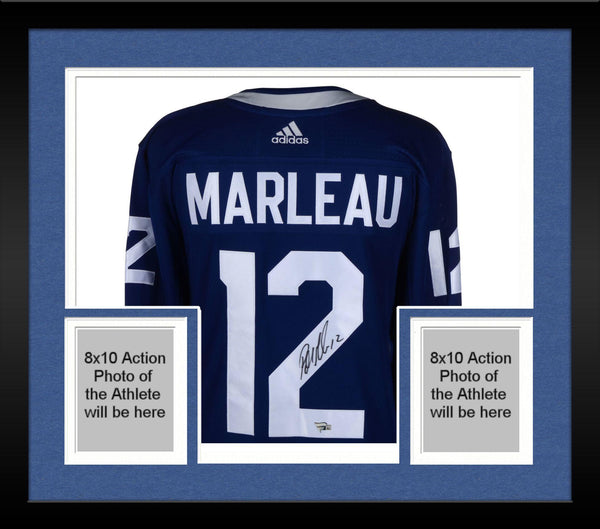 official photos e2adf 4b1ee Framed Patrick Marleau Toronto Maple Leafs Autographed Blue Adidas  Authentic Jersey