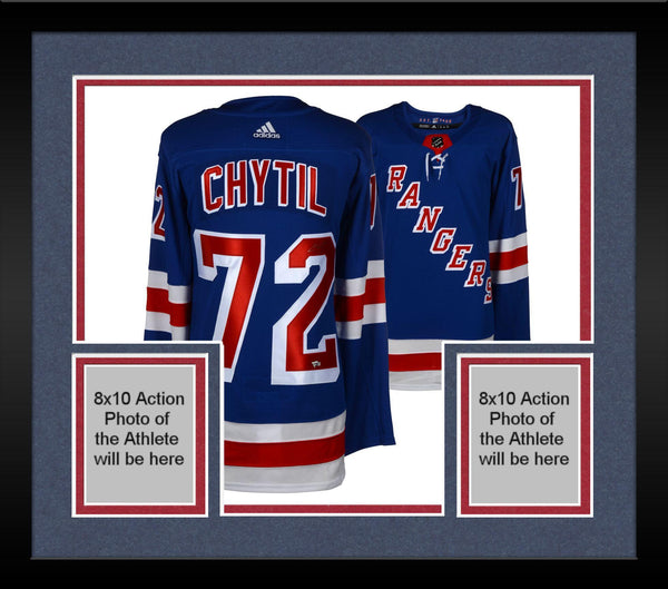brand new 0ce24 0ccab Framed Filip Chytil New York Rangers Autographed Blue Adidas Authentic  Jersey