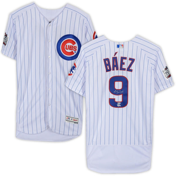 size 40 a691d 840e2 Javier Baez Chicago Cubs 2016 World Series Champions Autographed Majestic  Authentic Jersey
