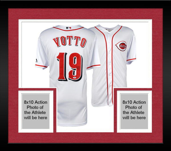 size 40 53e9c bcd90 Framed Joey Votto Cincinnati Reds Autographed Majestic White Jersey -  PSA/DNA