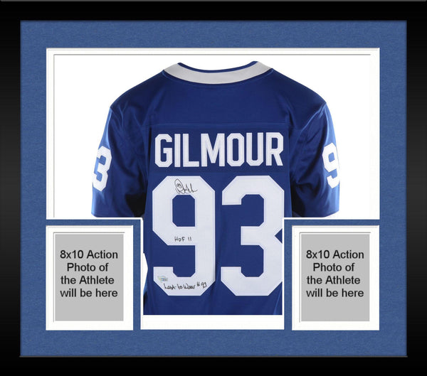 lowest price b86fc 5d11b Framed Doug Gilmour Toronto Maple Leafs Autographed Blue Fanatics Breakaway  Jersey with Multiple Inscriptions - Limited Edition of 12