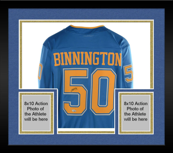 official photos 61952 2604f Framed Jordan Binnington St. Louis Blues Autographed Blue Alternate  Fanatics Breakaway Jersey