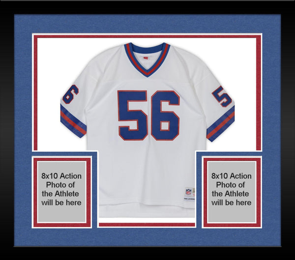 new products 5e8ca 3f829 Framed Lawrence Taylor New York Giants Autographed White Mitchell & Ness  Replica Jersey with