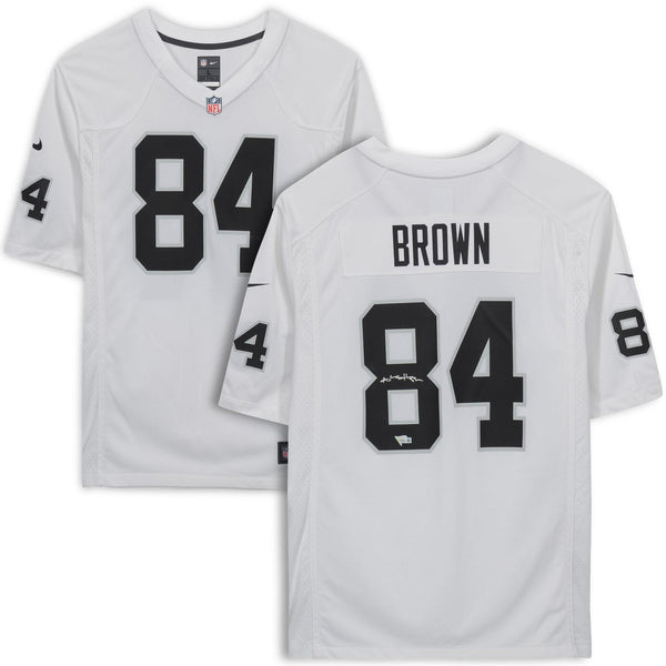 huge discount 42d35 135ce Antonio Brown Oakland Raiders Autographed White Nike Game Jersey