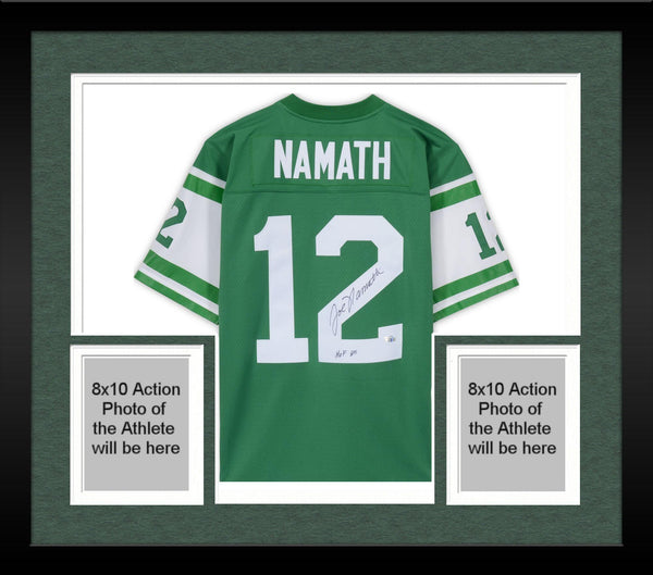 new style e8eef 30005 Framed Joe Namath New York Jets Autographed White Mitchell & Ness Replica  Jersey with