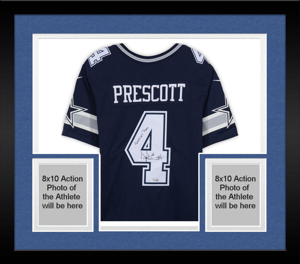 new style 034e9 8fd98 Framed Dak Prescott Dallas Cowboys Autographed Navy Nike Limited Jersey with