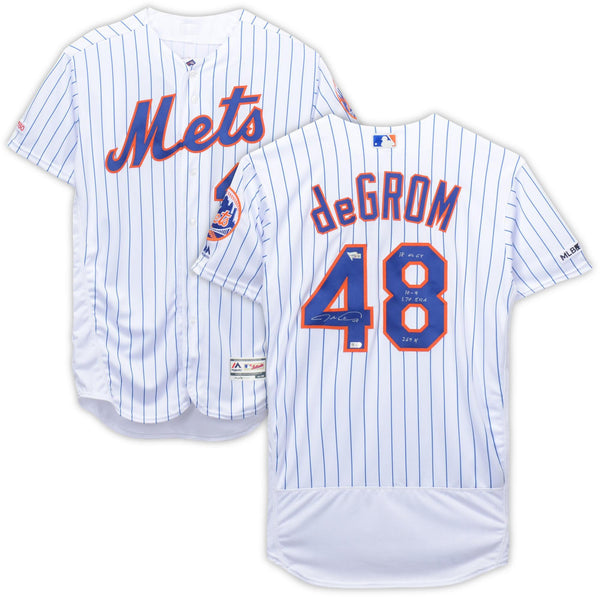 new product 8792e 622a3 Jacob deGrom New York Mets Autographed White Majestic Authentic Jersey with  Multiple Inscriptions - Limited Edition of 18