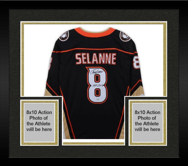 pretty nice 47f39 02f90 Framed Teemu Selanne Anaheim Ducks Autographed Black Fanatics Breakaway  Jersey with