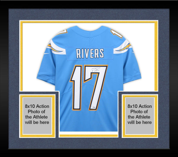 sale retailer 0b5f1 c3b31 Framed Philip Rivers Los Angeles Chargers Autographed Nike Powder Blue  Limited Jersey