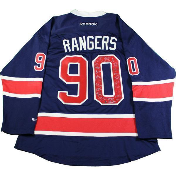 quality design 19e33 cf27c New York Rangers Team Signed 90th Anniversary Reebok Jersey (25  Signatures-No Vesey)