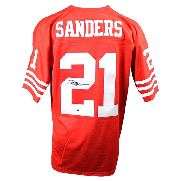 the best attitude fe35f bc22b Deion Sanders Signed San Francisco 49ers Mitchell & Ness Retired Player  Vintage Replica Jersey