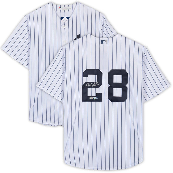 hot sales 0f5c0 3b841 Austin Romine New York Yankees Autographed White Replica Jersey