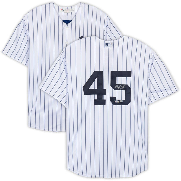 official photos b5ee4 0dbd8 Luke Voit New York Yankees Autographed White Replica Jersey