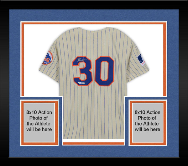 online store 9d41f 0047a Framed Nolan Ryan New York Mets Autographed Mitchell & Ness Throwback Cream  Authentic Jersey