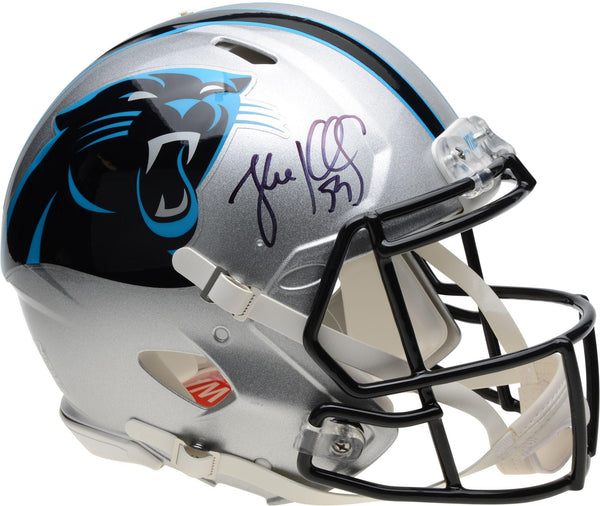 the latest c160f c6475 Luke Kuechly Carolina Panthers Autographed Riddell Speed Authentic Helmet
