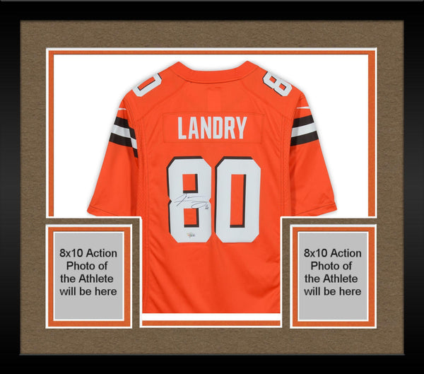 the latest 79d5e 9dfc4 Framed Jarvis Landry Cleveland Browns Autographed Nike Orange Game Jersey