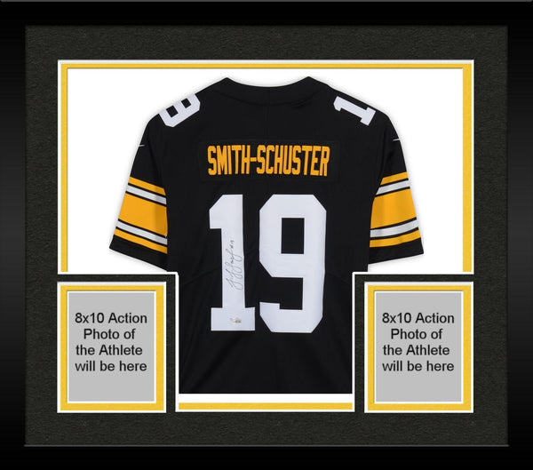 sports shoes 3136a 7920d Framed JuJu Smith-Schuster Pittsburgh Steelers Autographed Nike Black  Limited Alternate Jersey