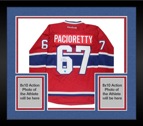 new arrival 3c94f 0927f Framed Max Pacioretty Montreal Canadiens Signed Reebok Premier Hockey  Jersey (AJ Sports)