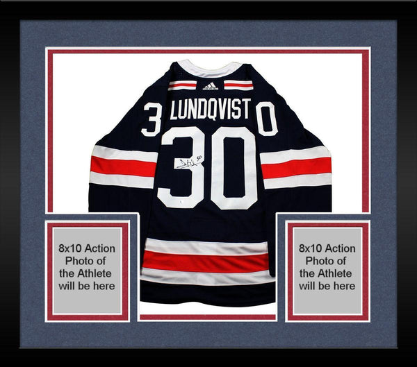 outlet store e98f6 60b74 Framed Henrik Lundqvist New York Rangers Signed 2018 NHL Winter Classic  Jersey