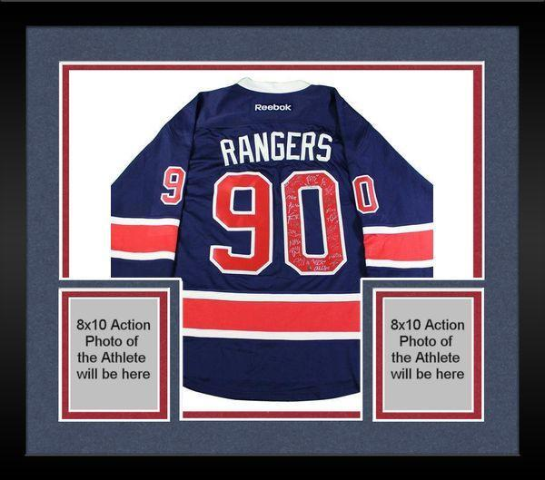 uk availability be30c 03b8b Framed New York Rangers Team Signed 90th Anniversary Reebok Jersey (25  Signatures-No Vesey)