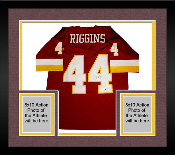 buy online 85cc6 88fb7 Framed John Riggins Signed Washington Redskins Replica Mitchell & Ness  Jersey