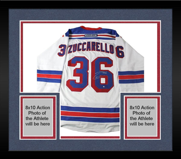 new concept 7f65a f96b9 Framed Mats Zuccarello Signed New York Rangers White Premier Jersey