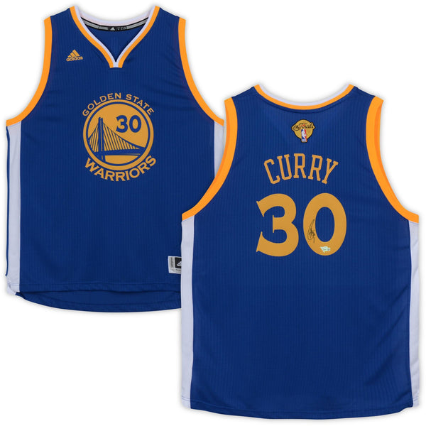 online retailer faf83 f03fd Stephen Curry Golden State Warriors Autographed Adidas NBA Finals Jersey