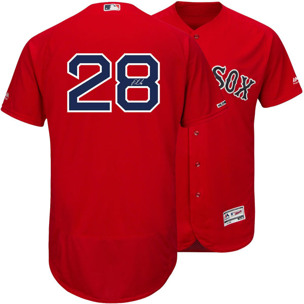 detailed look 66f92 08a50 J.D. Martinez Boston Red Sox Autographed Majestic Red Authentic Jersey