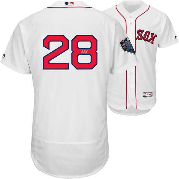 outlet store ca2cf 09182 J.D. Martinez Boston Red Sox Autographed Majestic 2018 World Series White  Authentic Jersey