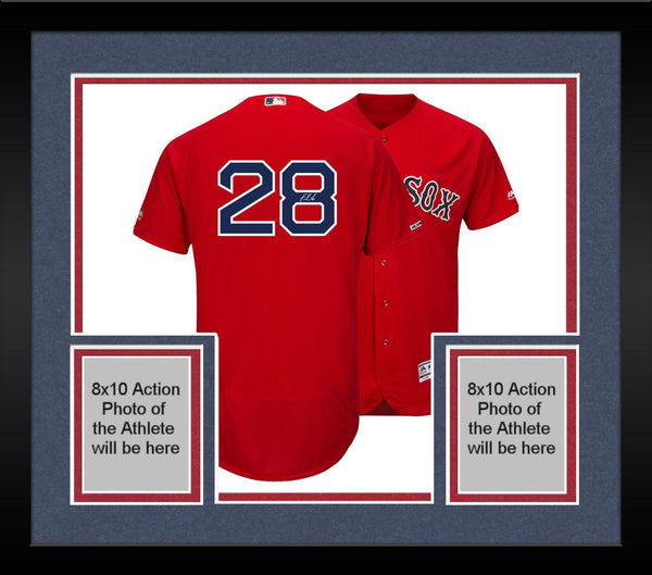buy popular 1c29f 5d748 Framed J.D. Martinez Boston Red Sox Autographed Majestic Red Authentic  Jersey