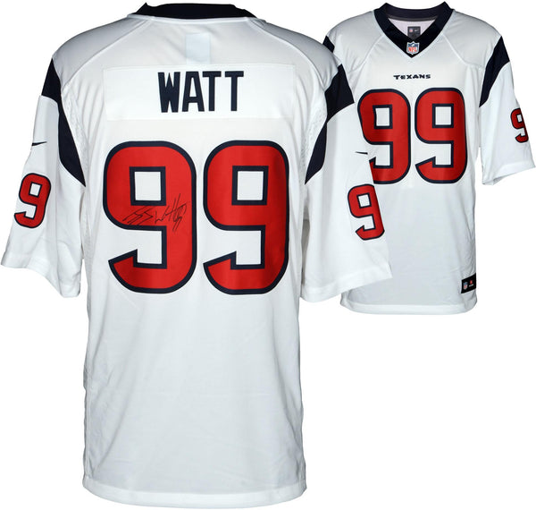 quality design 2c16c 774d7 J.J. Watt Houston Texans Autographed Nike Limited White Jersey