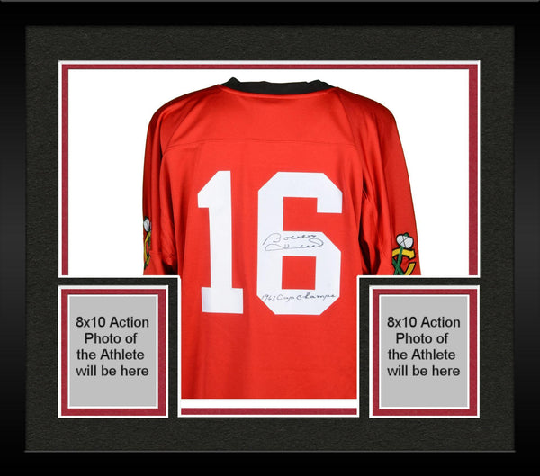 check out e8d56 8b336 Framed Bobby Hull Chicago Blackhawks Autographed Red Mitchell & Ness Jersey  with