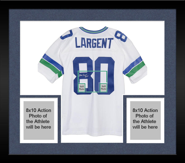 super popular 073a8 8fa9c Framed Steve Largent Seattle Seahawks Autographed White Replica Mitchell &  Ness Jersey with