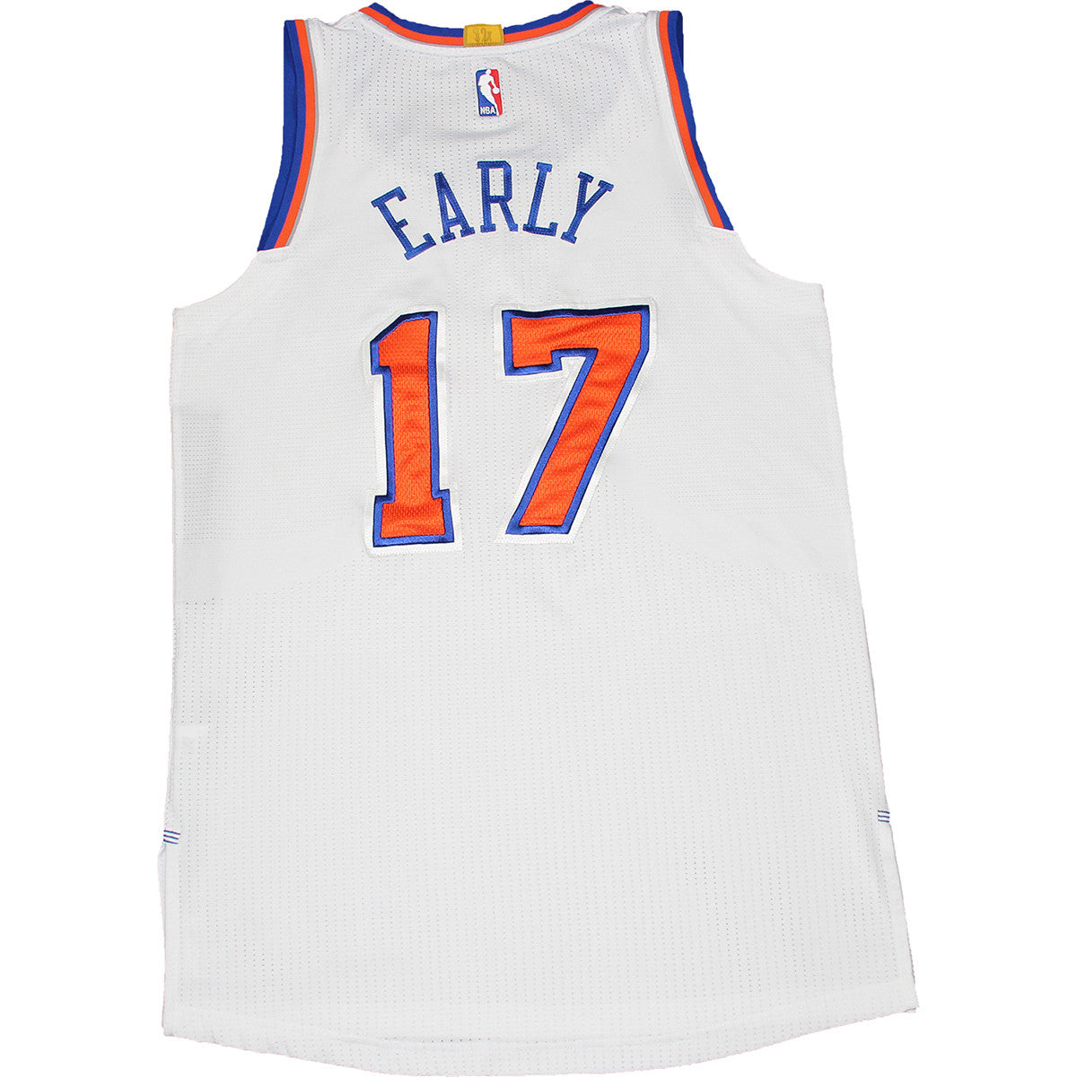 Cleanthony Early Jersey - NY Knicks 2014-2015 Game Used  17 White Jersey  (1 2 15 v. Detroit Pistons) (L) (NKN04574) ... 42e7db7b0