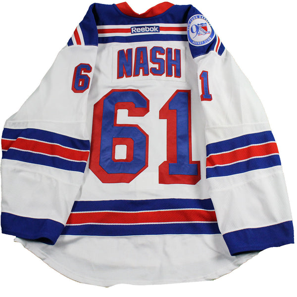 79bd1193d ... germany rick nash new york rangers 2016 2017 game used 61 white jersey  w 8613b 8bb6a